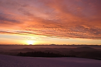 Sonnenaufgang im Winter